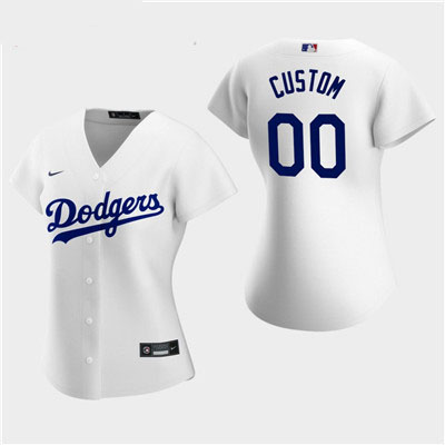 Women's Custom Los Angeles Dodgers 2020 White Home Replica Jersey