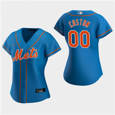 Women's Custom New York Mets 2020 Royal Alternate Replica Jersey