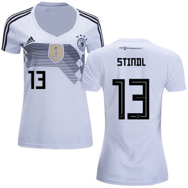 Women's Germany #13 Stindl White Home Soccer Country Jersey