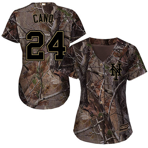 Women's Mets #24 Robinson Cano Camo Realtree Collection Cool Base Women's Stitched Baseball Jersey