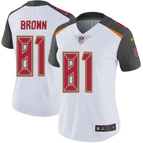 Women's Nike Buccaneers #81 Antonio Brown White Women's Stitched NFL Vapor Untouchable Limited Jersey