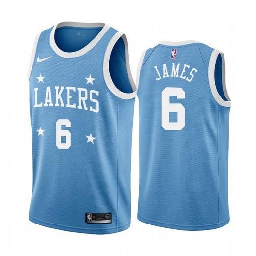 Women's Nike Lakers #6 LeBron James Blue Minneapolis All-Star Classic Women's NBA Jersey