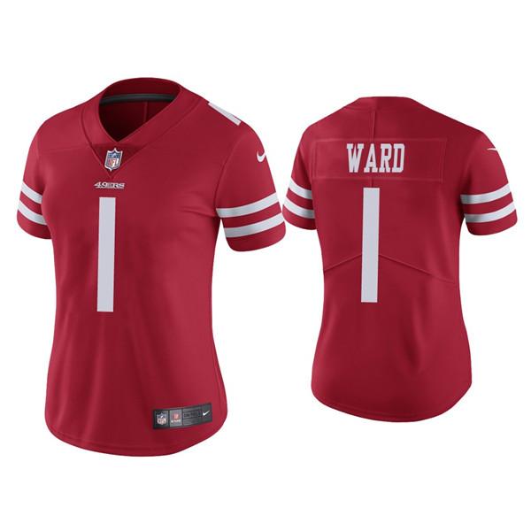 Women 49ers #1 Jimmie Ward Red Vapor limited Jersey