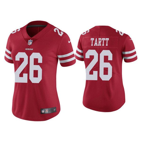 Women 49ers #26 Jaquiski Tartt Red Vapor limited Jersey