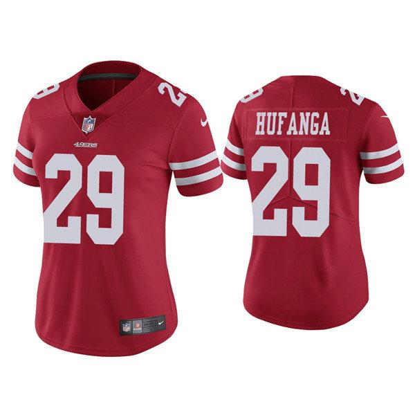 Women 49ers #29 Talanoa Hufanga Red Jersey