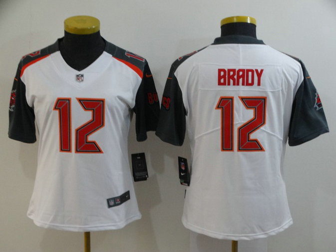 Women Buccaneers 12 Tom Brady White Women Vapor Untouchable Limited Jersey