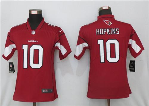 Women Cardinals #10 DeAndre Hopkins Red Team Color Jersey