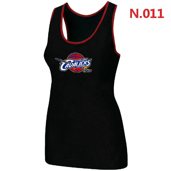 Women Cleveland Cavaliers Big Tall Primary Logo Black Tank Top