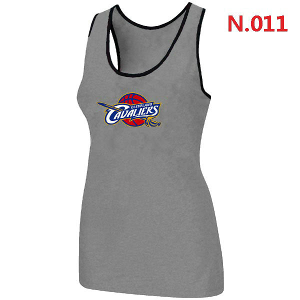 Women Cleveland Cavaliers Big Tall Primary Logo L.Gray Tank Top