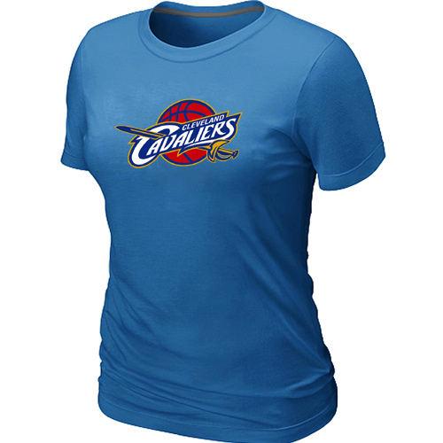 Women Cleveland Cavaliers Big Tall Primary Logo Light Blue T Shirt