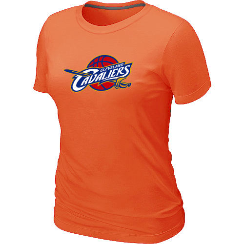 Women Cleveland Cavaliers Big Tall Primary Logo Orange T Shirt