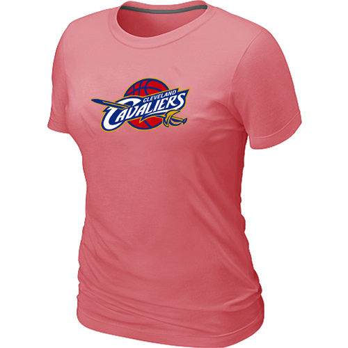 Women Cleveland Cavaliers Big Tall Primary Logo Pink T Shirt