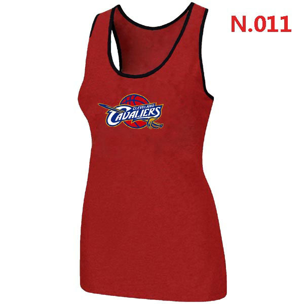 Women Cleveland Cavaliers Big Tall Primary Logo Red Tank Top