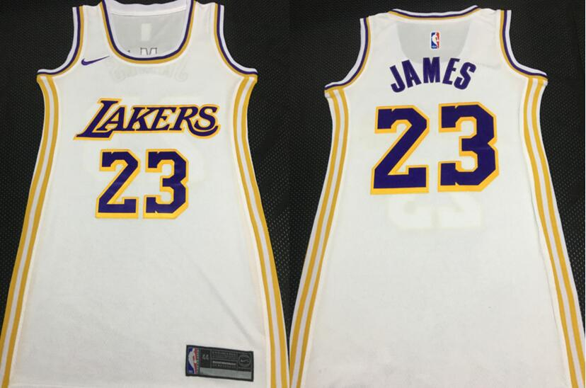 Women Lakers 23 Anthony Davis White Women Nike Swingman Jersey