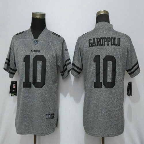 Women Nike 49ers 10 Jimmy Garoppolo Gray Gridiron Gray Women Vapor Untouchable Limited Jersey