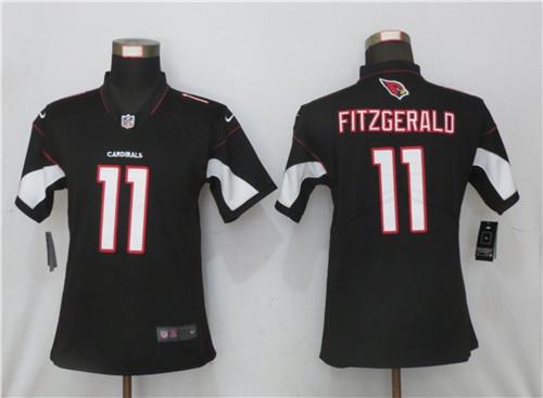 Women Nike Arizona Cardinals #11 Larry Fitzgerald Black 2020 Vapor Untouchable Jersey