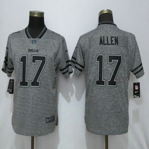 Women Nike Bills 17 Josh Allen Gray Gridiron Gray Women Vapor Untouchable Limited Jersey