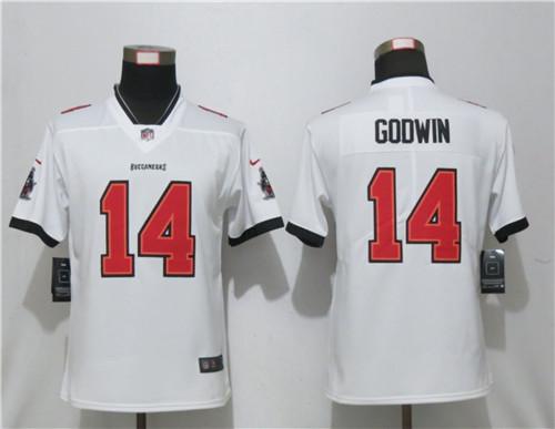 Women Nike Buccaneers 14 White New 2020 Vapor Untouchable Limited Jersey