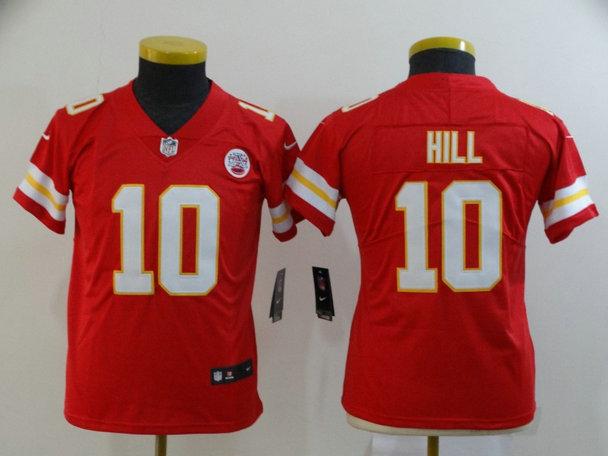 Women Nike Chiefs 10 Tyreek Hill Red Women Vapor Untouchable Limited Jersey
