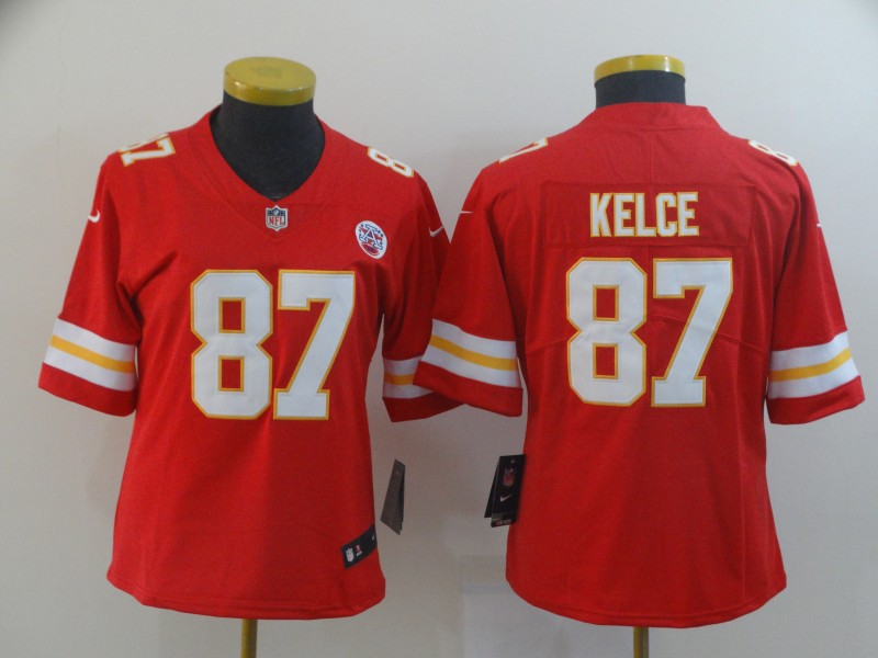 Women Nike Chiefs 87 Travis Kelce Red Women Vapor Untouchable Limited Jersey