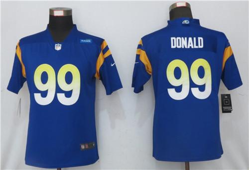 Women Nike Rams 99 Aaron Donald Royal 2020 New Vapor Untouchable Limited Jersey