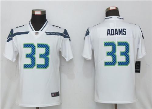 Women Nike Seattle Seahawks 33 Jamal Adams White 2020 Vapor Untouchable Jersey