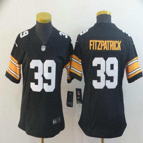 Women Nike Steelers 39 Minkah Fitzpatrick Black Alternate Women Vapor Untouchable Limited Jersey