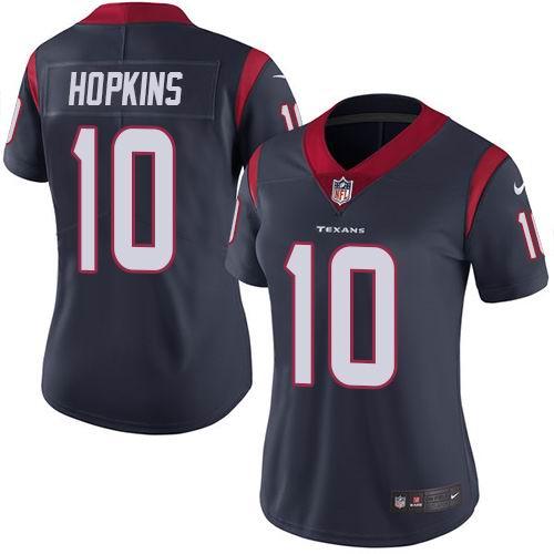Women Nike Texans #10 DeAndre Hopkins Navy Blue Team Color Vapor Untouchable Limited Jersey