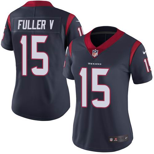 Women Nike Texans #15 Will Fuller V Navy Blue Team Color Vapor Untouchable Limited Jersey