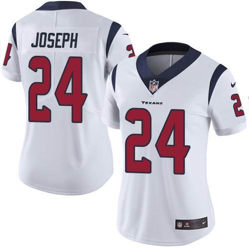 Women Nike Texans #24 Johnathan Joseph White Vapor Untouchable Limited Jersey