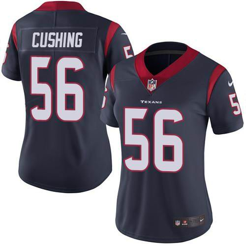 Women Nike Texans #56 Brian Cushing Navy Blue Team Color Vapor Untouchable Limited Jersey