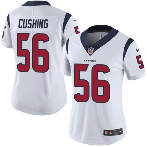 Women Nike Texans #56 Brian Cushing White Vapor Untouchable Limited Jersey
