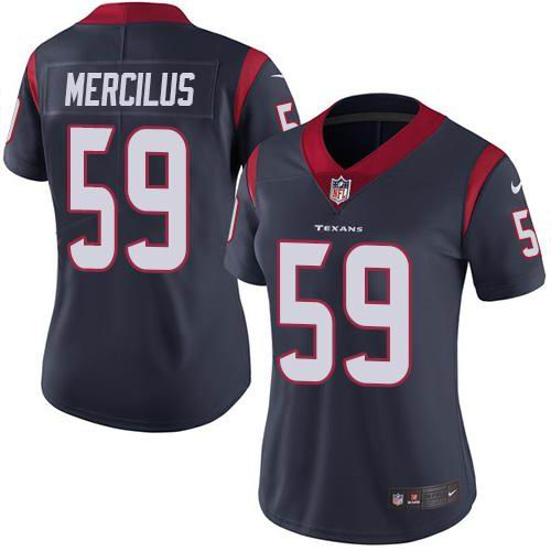 Women Nike Texans #59 Whitney Mercilus Navy Blue Team Color Vapor Untouchable Limited Jersey
