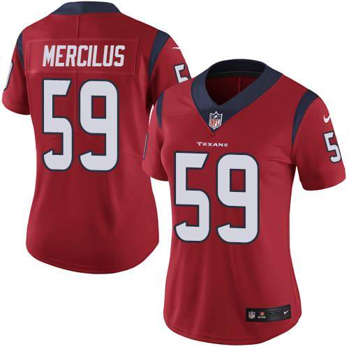 Women Nike Texans #59 Whitney Mercilus Red Vapor Untouchable limited jersey
