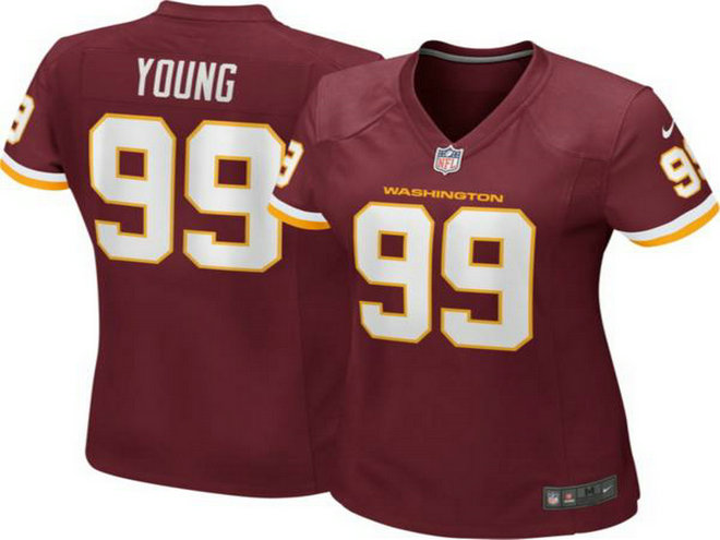 Women Nike Washington 99 Chase Young Red Limited Jersey