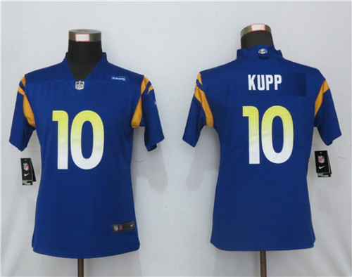 Women Rams 10 Cooper Kupp Royal 2020 New Vapor Untouchable Limited Jersey