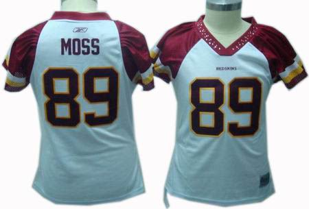 Women Washington Redskins #89 Santana Moss white