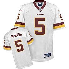 YOUTH #5 Donovan McNabb Washington Redskins jersey White Jersey