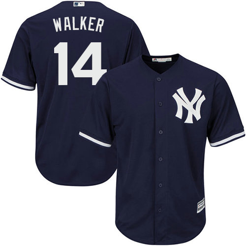 Yankees #14 Neil Walker Navy blue Cool Base Stitched Youth MLB Jersey