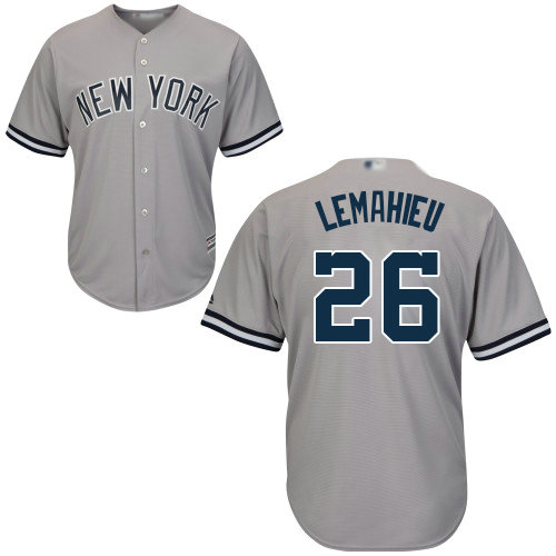 Yankees #26 DJ LeMahieu Grey Cool Base Stitched Youth Baseball Jersey