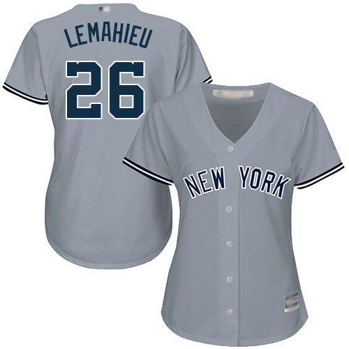 Yankees #26 DJ LeMahieu Grey Road Women's Stitched Baseball Jersey