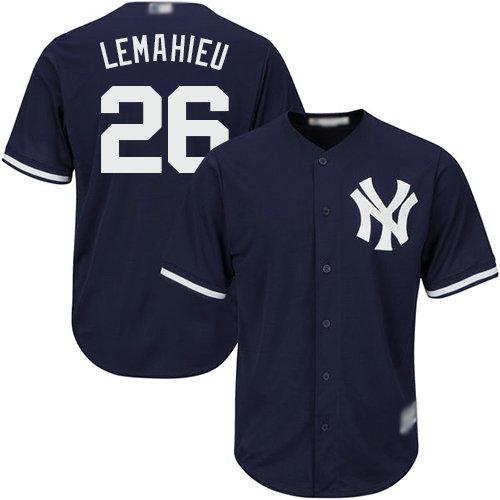 Yankees #26 DJ LeMahieu Navy blue Cool Base Stitched Youth Baseball Jersey