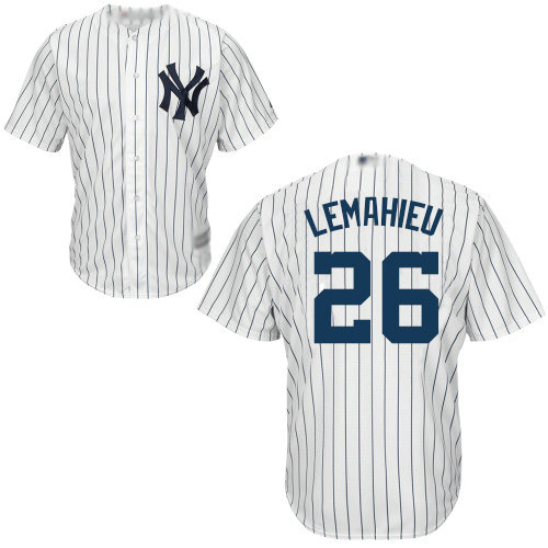 Yankees #26 DJ LeMahieu White Cool Base Stitched Youth Baseball Jersey