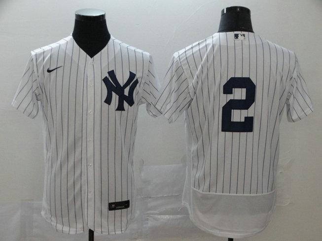 Yankees 2 Derek Jeter White 2020 Nike Flexbase Jersey