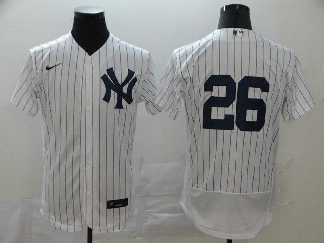 Yankees 26 DJ LeMahieu White 2020 Nike Flexbase Jersey