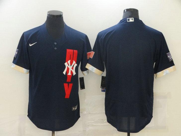 Yankees Blank Navy Nike 2021 MLB All-Star Flexbase Jersey