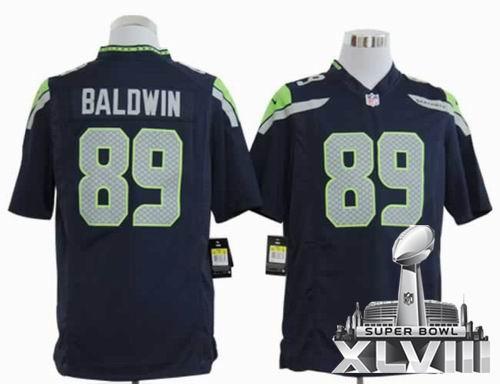 Youth 2012 Nike Seattle Seahawks #89 Doug Baldwin game Team Color 2014 Super bowl XLVIII(GYM) Jersey
