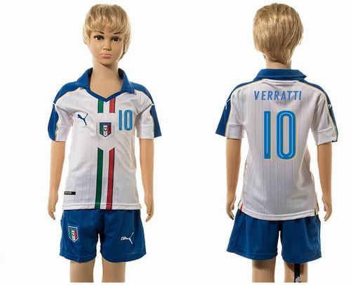 Youth 2016 European Cup series Italy Away #10 verratti  Soccer Jerseys