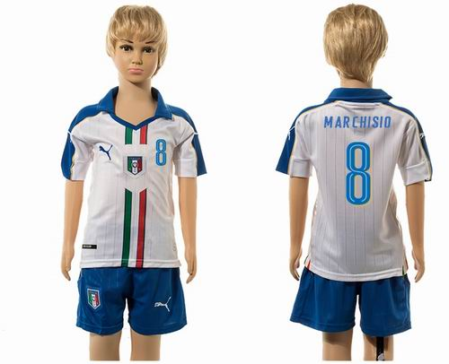 Youth 2016 European Cup series Italy Away #8 marchisio  Soccer Jerseys