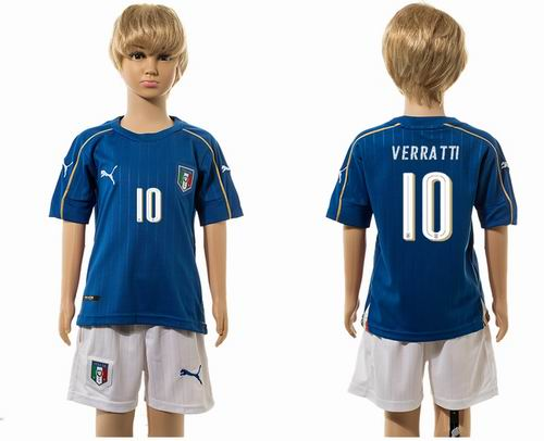 Youth 2016 European Cup series Italy home #10 verratti  Soccer Jerseys